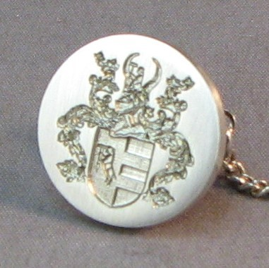 Sterling Silver Coat Of Arms Dress Stud Close Up