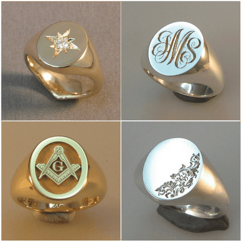 star set , and initial signet rings