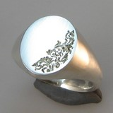 half face engraved signet rings